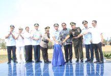 Upacara Peresmian Lanud Hang Nadim Batam dan Pelantikan Komandan Lanud Hang Nadim Batam oleh KASAU di Mako Lanud Hang Nadim Batam, Batu Besar Kota Batam, Kamis (4/7).