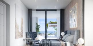 Inilah satu dari empat kamar tidur di vila mewah milik Ronaldo. Bisa menikmati pemandangan sambil tiduran di kamar.