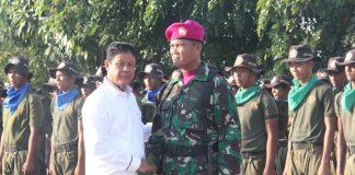 Plt Gubernur Kepulauan Riau H Isdianto di Lapangan SMK Maritim Bengkong Laut, Kota Batam, Sabtu (24/8) petang.