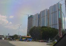 Proyek apartemen di Kota Batam, sedang dalam proses pembangunan. (suryakepri.com/eddy mesakh)