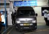 Mobil jenazah yang akan menjemput jenazah Nora Anne di Rumah Sakit Tuanku Ja'afar (bernama)