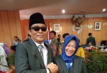 Zaizulfikar-Sri Rezeki, pasangan suami-istri anggota DPRD Karimun terlantik periode 2019-2024. Foto SuryaKepri.com/Rachta Yahya