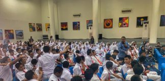 Para pelajar mengikuti kegiatan BI mengajar di Jakarta, Senin (5/8/2019) (BI.GO.ID)