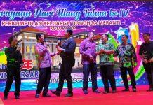 Momen Dimana HM Soerya Respationo dan H Isdianto Bernyanyi Bersama di Acara HUT Ke-4 PKTM Kota Batam, Rabu (18/9/2019).