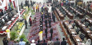Pelantikan 45 anggota DPRD Kepri di gendung DPRD Kepri, Pulau Dompak, Tanjungpinang (Foto: Suryakepri.com/MBA)