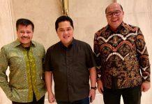 Mantan Kepala BP Batam, Lukita Dinarsyah Tuwo mendapat dukungan penuh dari Erick Thohir dalam Pilwako Batam 2020.(suryakepri.com/ist)