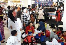 Acara Festival and Competition Karate BKC Batam 2019 di Kepri Mall, Batam, Sabtu-Minggu (8/9/2019), berlangsung sangat meriah. Selain peserta, para orangtua dari para atlet tampak antusias selama dua hari standby di lokasi acara.(suryakepri.com/purwoko)