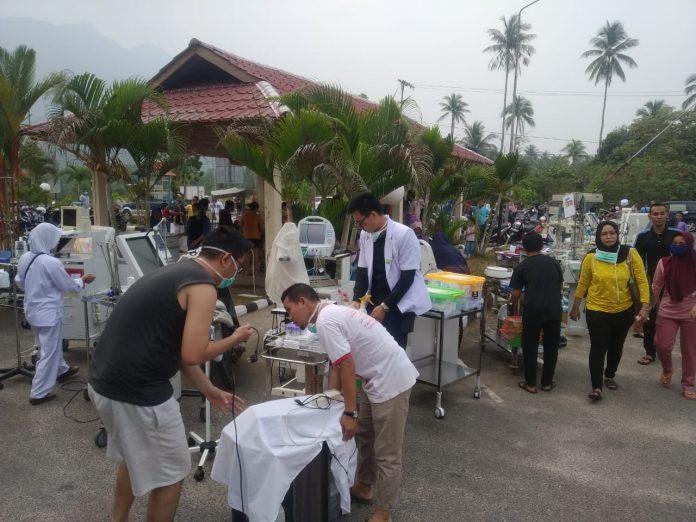 Ruang operasi di Rumah Sakit Umum Daerah (RSUD) Natuna terbakar, Jumat (20/09/2019) sore.(suryakepri.com/ist)