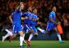 Para pemain Colchester United bergembira usai menyingkirkan Tottenham Hotspur pada babak ketiga Piala Liga melalui babak adu penalti setelah kedua tim bermain imbang 0-0 dalam 90 menit waktu normal. (Telegraph)