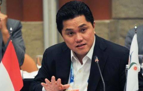 Menteri Badan Usaha Milik Negara (BUMN) Erick Thohir (Sumber: bolalob)
