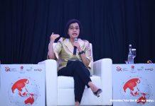 Menkeu Sri Mulyani berbicara pada acara CEO Networking 2019 di Ritz Carlton, Pacific Place, Jakarta, Kamis (31/10/2019) Foto Kemenkeu