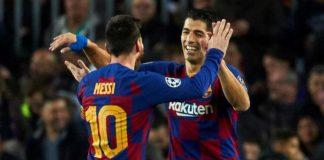 Lionel Messi dan Luis Suarez. (Marca)