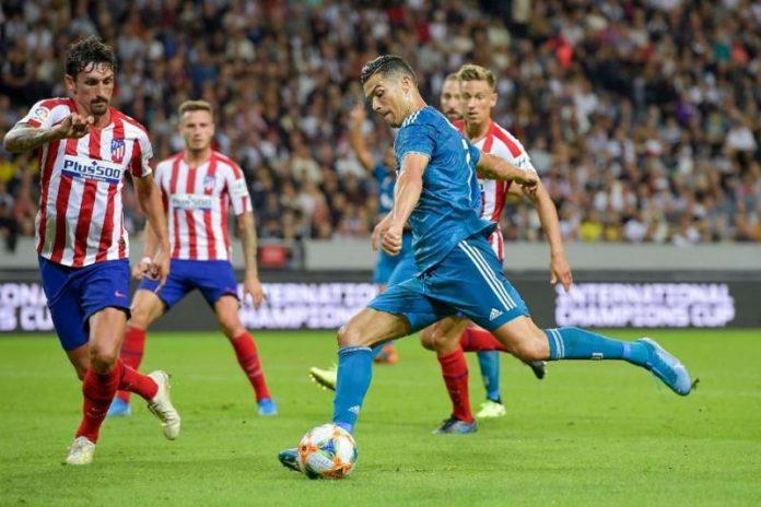 Penyerang juventus Cristiano Ronaldo saat laga melawan Atletico Madrid di Wanda Metropolitano, matchday 1 Liga Champions 2019-2020. (Sportskeeda)