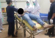 Korban saat berada di RSUD Raja Ahmad Tabib Tanjungpinang (istimewa)