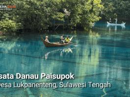 Danau Paisupok terletak di Desa Lukpanenteng, Kabupaten Banggai Kepulauan, Sulawesi Tengah.(Foto: Indonesia.go.id)