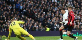 Dele Alli mencetak gol ke gawang Bournemouth. (Foto: Getty via BBC Sports)