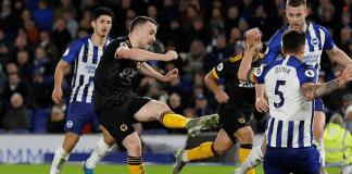Diogo Jota mencetak dua gol bagi Wolves dalam hasil imbang 2-2 vs Brighton. (Foto: Premierleague.com)