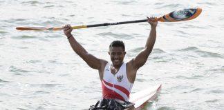 Maizir Ryondra di nomor kayak single 1.000 meter putra (Foto: Bola.com)