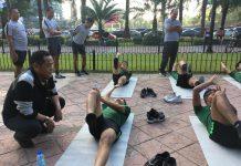 Pemain Timnas U-23 memperkuat latihan fisik untuk menghadapi Vietnam di babak final SEA Games 2019. (Foto: PSSI)
