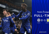 Mason Mount dan Tammy Abraham melakukan selebrasi usai mencetak gol kedua ke gawang Aston Villa. Chelsea menang 2-1. (Foto: Twitter/Chelsea)