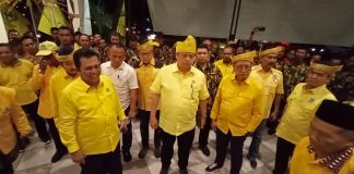 Ketum DPP Partai Golkar Airlangga Hartarto saat menghadiri Konsolidasi Partai Golkar Kepri di Bintan (Suryakepri.com/ Muhammad Bunga Ashab)