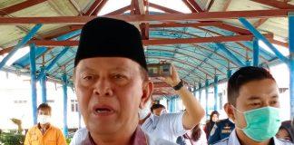 Wali Kota Tanjungpinang Syahrul saat ditemui di Pelabuhan Internasional Sri Bintan Pura Tanjungpinang (Suryakepri.com/ Muhammad Bunga Ashab)