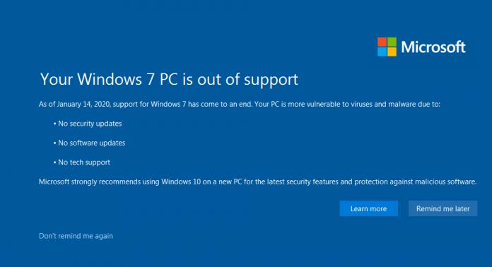 Tampilan komputer yang gunakan Windows 7 saat komputer dinyalakan. (Foto: screenshot)
