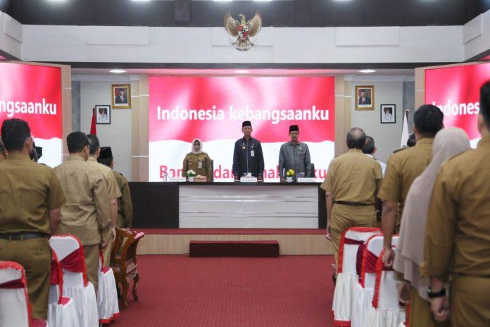 Wali Kota Tanjungpinang Syahrul didampingi Wakil Wali Kota Tanjungpinang Rahma saat membuka Forum Perangkat Daerah di kantornya (Suryakepri.com)