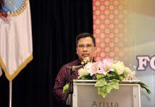 Sekretaris Daerah Provinsi Kepulauan Riau H TS Arif Fadillah saat di Hotel Arista Palembang, Jumat (7/2/2020).