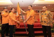 Bakti Lubis Kembali Terpilih Secara Aklamasi dalam Musda DPD Hanura Kepri, Sabtu (15/2/2020) di Harmoni One Hotel Batam Center. (Foto: Suryakepri.com/Nando)