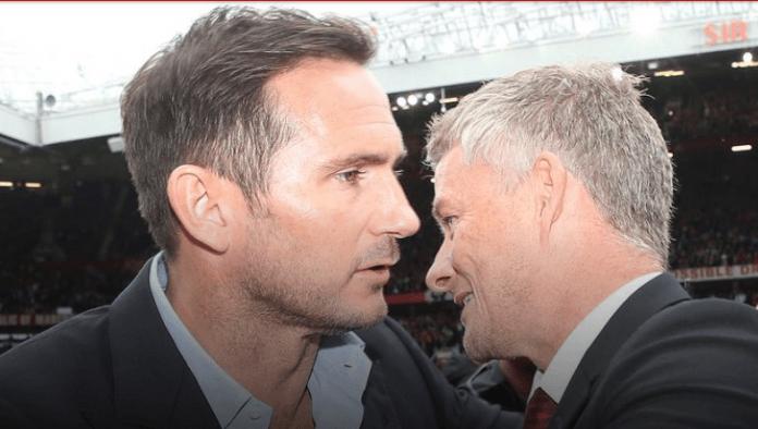 Frank Lampard (kiri) dan Ole Gunnar Solskjaer. (Foto: manutd.com)