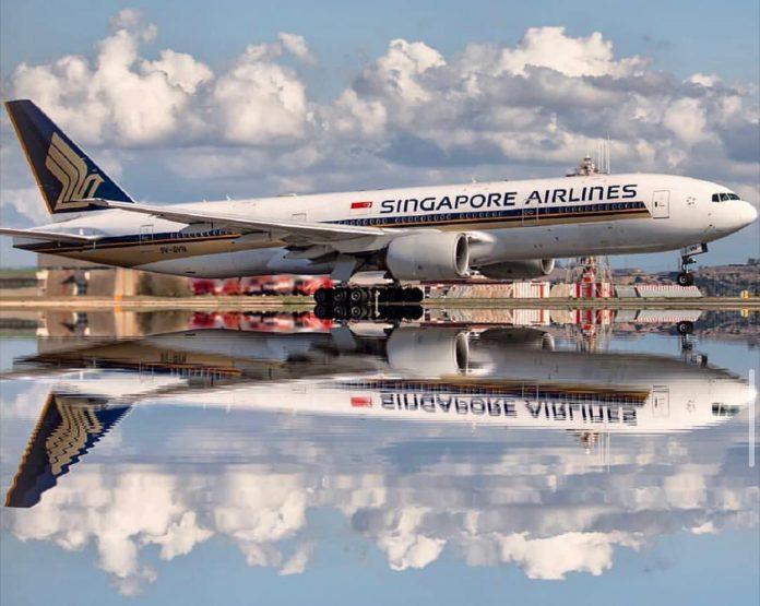 Pesawat Singapore Airlines. (Foto dari akun instagram singaporeair)