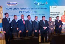 Dewan Komisaris dan Dewan Direksi PT Timah Tbk yang baru hasil RUPS Luar Biasa, Senin (10/2/2020). Foto Suryakepri.com/rachta yahya