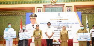 Plt Gubernur Kepulauan Riau (Kepri) H Isdianto saat di Gedung Daerah, Tanjungpinang, Senin (30/3/2020).