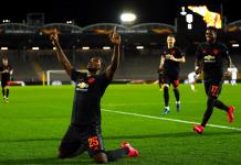 Odion Ighalo merayakan gol ke gawang LASK. (Sumber Foto: the sport)