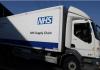 Sebuah truk rantai pasokan NHS terlihat di luar Excel Centre, London ketika sedang dipersiapkan untuk menjadi rumah sakit NHS Nightingale ketika penyebaran penyakit coronavirus (COVID-19) berlanjut, di London Timur, Inggris, 27 Maret 2020. REUTERS / Simon Dawson via CNA