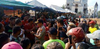 Suasana Pasar Induk Jodoh, Batam menghangat karena warga belum terima soal penggusuran,Rabu(11/03/2020). (Foto: Suryakepri.com/Romi)