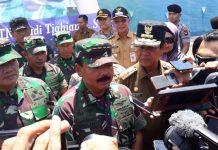 Panglima TNI Marsekal TNI Hadi Tjahjanto saat ditemui di Dompak, Tanjungpinang, baru-baru ini (Suryakepri.com/ Muhammad Bunga Ashab)