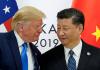 Presiden China Xi Jinping (kanan) bersalaman dengan Presiden AS Donald Trump. (foto: Minpost.com)
