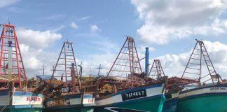 Inilah lima kapal Vietnam yang ditangkap saat mencuri ikan di Laut Natuna, Kepri. (Foto: Suryakepri.com/Aini Lestari)