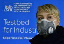 Respirator cetakan 3 Dimensi temuan institut Computer Science, Robotics and Cybernetics (CIIRC) Republik Ceko. (Foto: Dok CIIRC)
