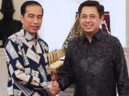Ketua Umum Sinode Gereja Bethel Indonesia (GBI) Pdt. Dr. Rubin Adi Abraham, M.Th bertemu Presiden Joko WIdodo.