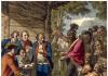 Sebuah ilustrasi Kepala Ottawa, Pontiac berhadapan dengan Kolonel Henry Bouquet yang memberi wewenang kepada perwiranya untuk menyebarkan cacar di antara penduduk asli Amerika dengan sengaja menginfeksi selimut setelah pembicaraan damai.(Ilustrasi dari History.com)