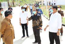 Ketua DPRD Kepri Jumaga Nadeak saat menghadiri peresmian RS Khusus Galang di Batam (Suryakepri.com/ist)