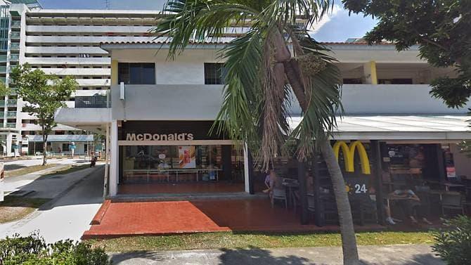 Gerai McDonald's di Geylang East Central., Singapura. (Foto dari CNA)