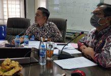 Kepala Barenlitbang Provinsi Kepulauan Riau (Kepri) Naharuddin MTP saat Rapat Koordinasi melalui Video Conference, Minggu (12/4/2020).