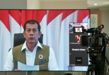 Kepala BNPB Doni Monardo saat menyampaikan keterangan usai mengikuti Rapat Terbatas melalui daring dari Istana Merdeka, Provinsi DKI Jakarta, Senin (6/4/2020). (Foto: Humas Setkab/Ibrahim)