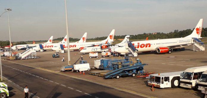 Ilustrasi. Lion Air di Bandara Hang Nadim Batam.(suryakepri.com