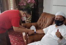 Sekdaprov Kepri H TS Arif Fadillah kembali menjalani pemeriksaan cepat dengan rapid tes terhadap kemungkinan terinfeksi covid19