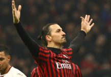 Striker Milan Zlatan Ibrahimovic